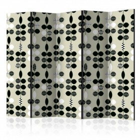 Vouwscherm - Black and White Dots II [Room Dividers]