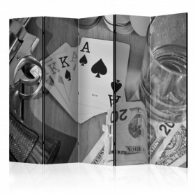 Vouwscherm - Cards: black and white II [Room Dividers]