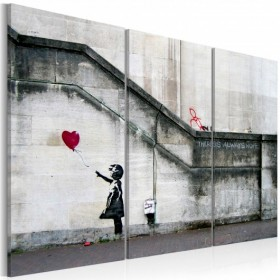 Schilderij - Girl With a Balloon by Banksy