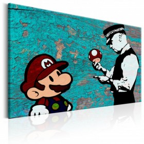 Schilderij - Banksy on Wood