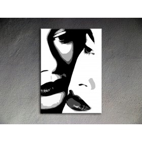 Popart schilderij Two women