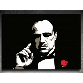 Popart schilderij The Godfather - Marlon Brando